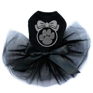 Paw Ornament  - Black Tutu