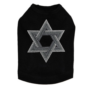 Star of David (Gray and Clear) Dog Tank