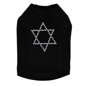 Star of David (Silver Studs) Dog Tank