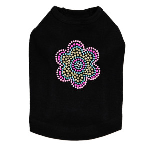 Multicolor Nailhead Flower dog tank for large and small dogs.