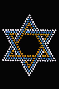 Star of David - Small (Blue, Silver, & Gold) - Women's T-shirt
