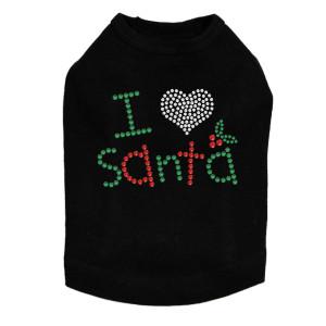 I Love Santa - Black Dog Tank