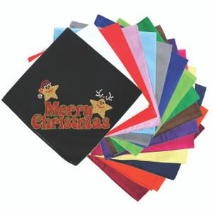 Merry Christmas Glitter Stars - Bandanna
