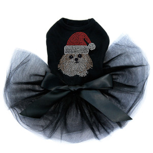 Shih Tzu with Santa Hat - Tutu for Big and Little Dogs