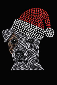 Jack Russell Terrier with Santa Hat - Black Women's T-shirt