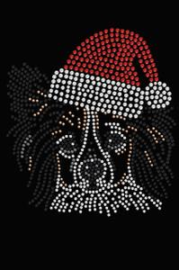 Papillon with Santa Hat - Black Women's T-shirt