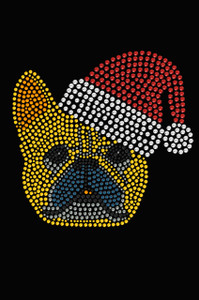French Bull Dog with Santa Hat - Black Women's T-shirt