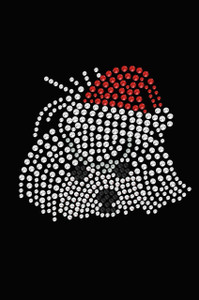 Maltese Face with Santa Hat - Black Women's T-shirt