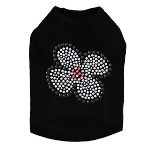 White Nailhead Flower  dog tank for large and small dogs.