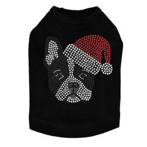 Boston Terrier with Santa Hat Dog Tank