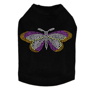 Magenta Butterfly dog tank for small and large dogs.