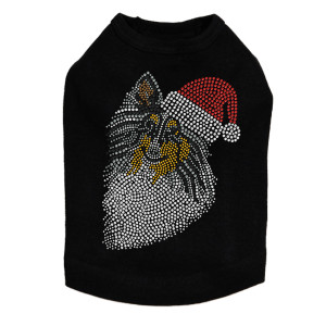 Sheltie Face Tri Color with Santa Hat Dog Tank