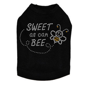 Sweet as Can Bee dog tank for small and large dogs.