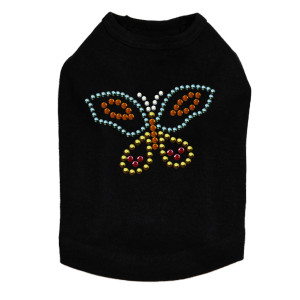 Multicolor Butterfly dog tank for small and large dogs.