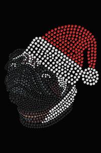 Pug with Santa Hat - Black Women's T-shirt