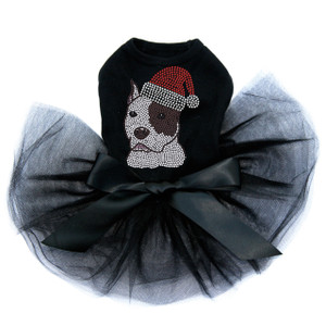 Pit Bull with Santa Hat - Tutu for Big and Little Dogs