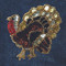Sequin Turkey attaches with Velcro to the Hollywood Vest.