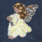 Sequin Angel attaches with Velcro to the Hollywood Vest.