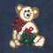 Sequin Christmas Teddy Bear attaches with Velcro to the Hollywood Vest.