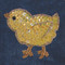 Sequin Easter Chick attaches with Velcro to the Hollywood Vest.