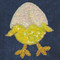 Sequin Chick with Egg attaches with Velcro to the Hollywood Vest.
