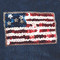 Sequin USA Flag attaches with Velcro to the Hollywood Vest.