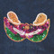 Sequin Mardi Gras Mask attaches with Velcro to the Hollywood Vest.