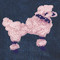 Sequin Pink Poodle attaches with Velcro to the Hollywood Vest.