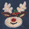 Sequin Christmas Reindeer attaches with Velcro to the Hollywood Vest.