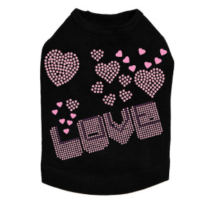Pink & Purple Love dog tank for large and small dogs.