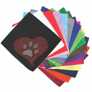 Red Heart with Paw #2 Bandanna