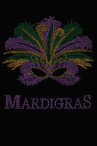 Madi Gras with Mask - Women's T-shirt