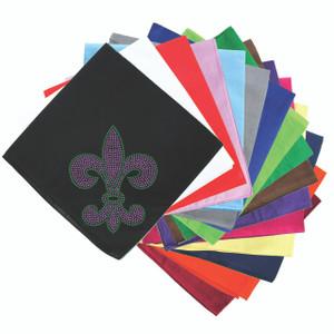 Fleur de Lis (Purple & Green) - Bandanna