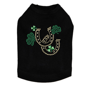 Shamrocks & Horseshoes dog tank for large and small dogs.