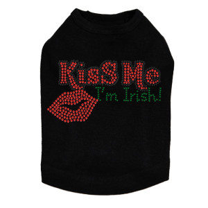Kiss Me I'm Irish dog tank for large and small dogs.