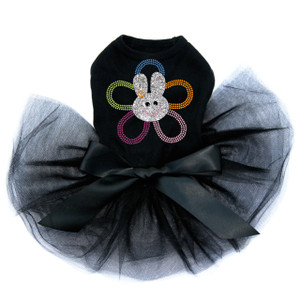Flower Bunny dog tutu for large and small dogs.