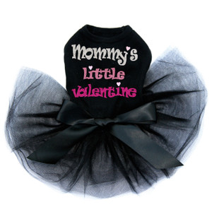 Mommy's Little Valentine Black Tutu for large and small dogs.