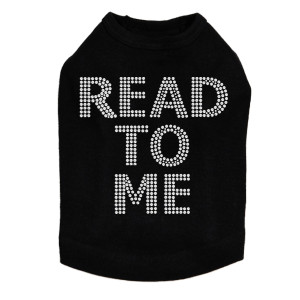 Read To Me (Therapy Dog) dog tank for large and small dogs.