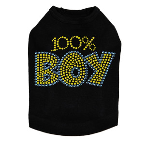 100% Boy dog tank for large and small dogs.