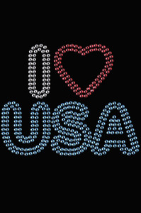 I Love USA #2- Women's T-shirt