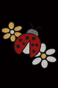 Glitter Ladybug & Daisies - Women's T-shirt