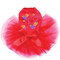 Satin Flip Flops with Flowers Tutu for big and small dogs