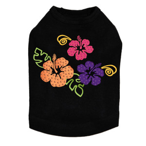 Satin Hibiscus dog tank for large and small dogs.