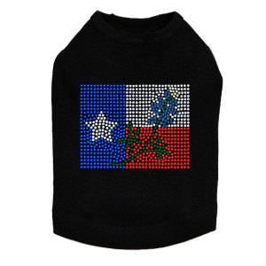 Texas Flag with Bluebonnet dog tank for large and small dogs.