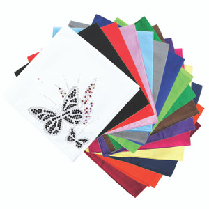 Black Butterfly with Flowers - Bandannas