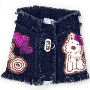 The Hugs & Kisses Puppy Denim Harness Vest