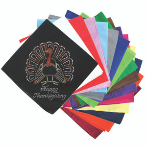 Happy Thanksgiving Turkey #2 Bandanna