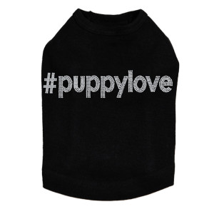 #puppylove - Silver Nailhead - Dog Tank