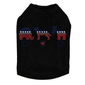 Vote Dog, Elephant, Donkey - Dog Tank