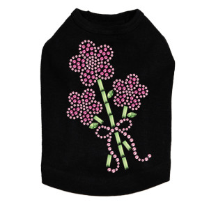 Pink Flower Bouquet - Dog Tank